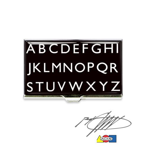 Acme Alphabet Visitenkartenetui Design Rod Dyer