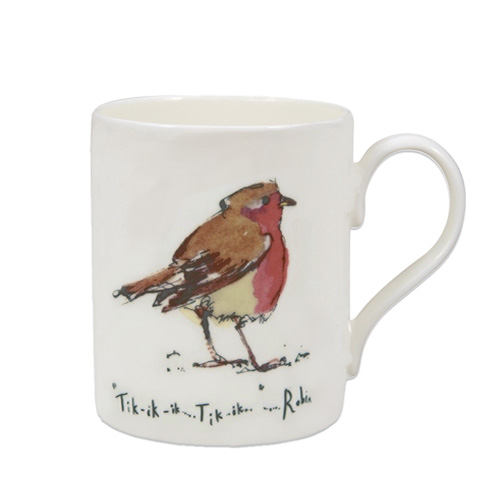 *  Fine Bone China Becher Rotkehlchen - Design Madeleine Floyd