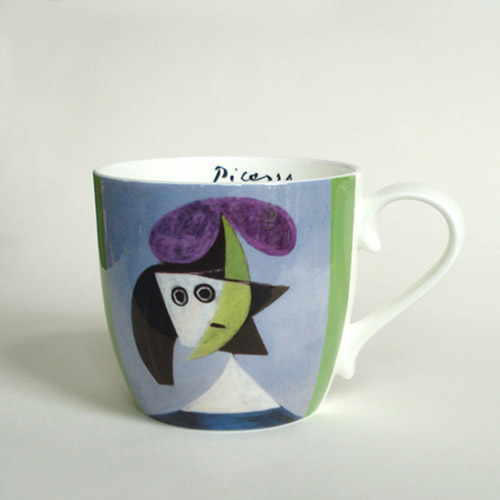 * Fine Bone China Becher PICASSO »Frau mit Hut - Olga«