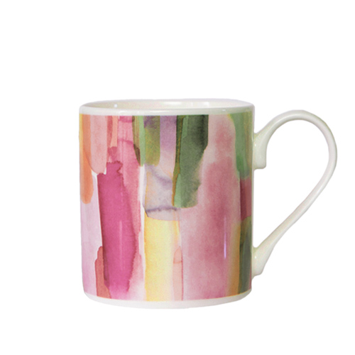 *   Fine Bone China Becher Pink City - Design bluebellgray