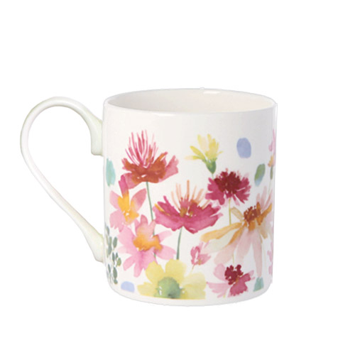 *   Fine Bone China Becher  Indian Summer - Design bluebellgray