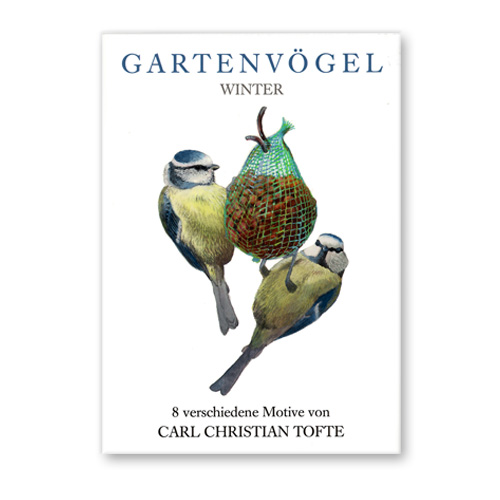 *  Briefkarten »Gartenvögel im Winter«