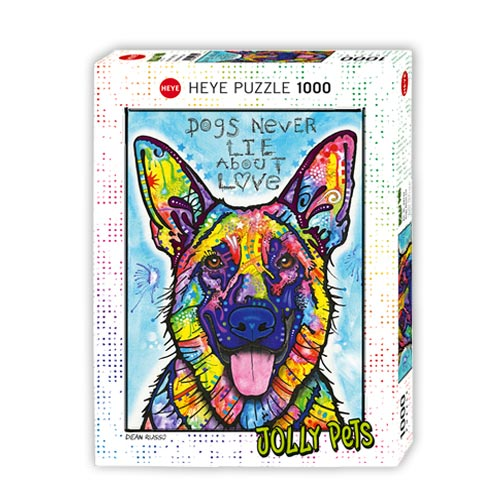 *  Puzzle DOGS NEVER LIE - Design: Dean Russo (1000 Teile)