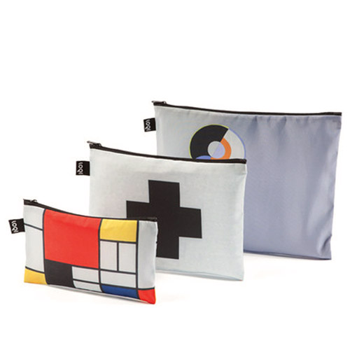 *   Taschen-Set MONDRIAN - LOQI Zip Pockets Museumskollektion