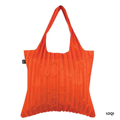 *  LOQI - Plissierte Orange Sunshine Tasche