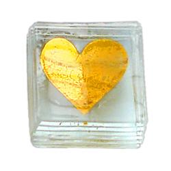 Briefbeschwerer Herz Gold »
