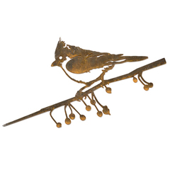 Vogelsilhouette Haubenmeise aus Kortenstahl für den Garten »