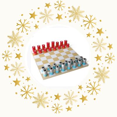 Schachspiel - Zeitgenössisches Design aus Lindenholz