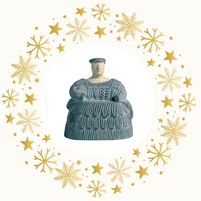 Statuette einer baktrischen Frau - Museumsreplikat Reunion des Musees Nationaux