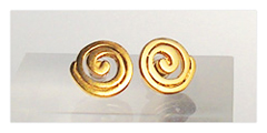 Präkolumbianische Goldspiralen-Ohrstecker