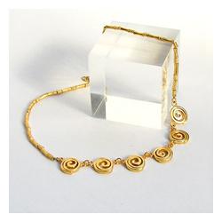 Präkolumbianische Goldspiralenkette