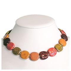 Halskette HELEN - Handgearbeiteter Keramikschmuck